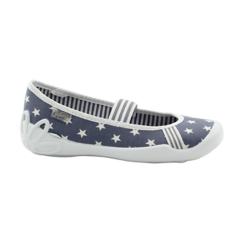 Dječje papuče Befado 193y064 zvijezde siva bijela
