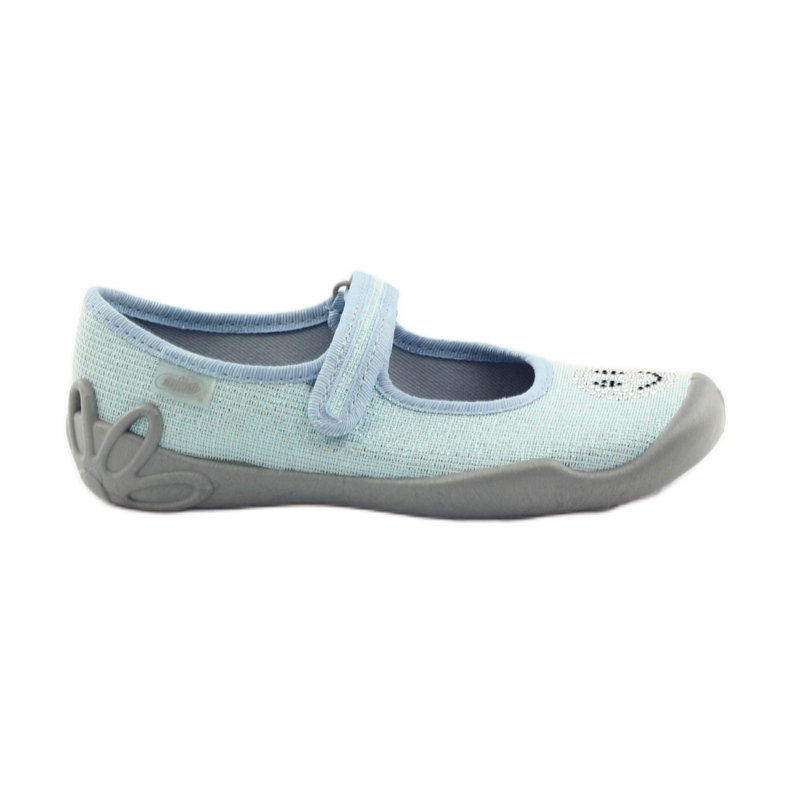Papuče za balerinke Befado 114y289. Plavi emotikoni plava