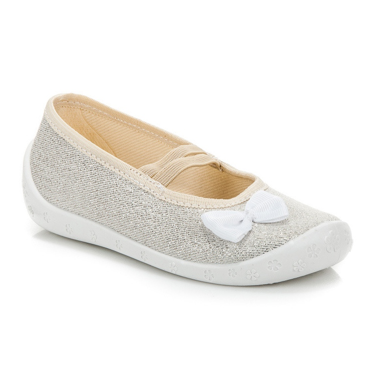 Reweks Srebrne papuče na gumici siva