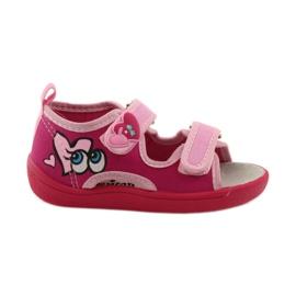 American Club Papuče američke sandale od kože ružičasta