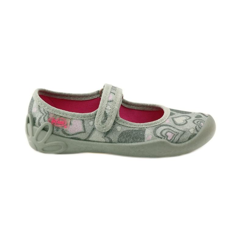 Balerinke papuče srca Befado 114x284 ružičasta siva