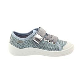 Befado dječje cipele tenisice papuče 251x097 siva plava bijela