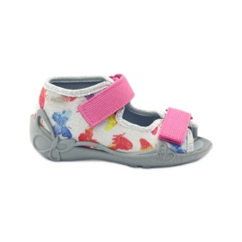 Befado dječje cipele sandale sandale 242p075 ružičasta siva