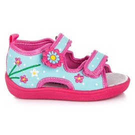 American Club Dječje papuče od Velcro ružičasta plava