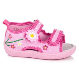 American Club Dječje papuče od Velcro ružičasta