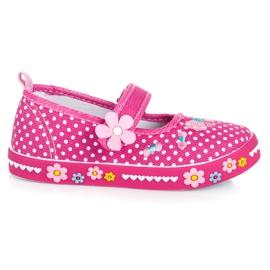 American Club Ružičaste cipele s čičak ružičasta