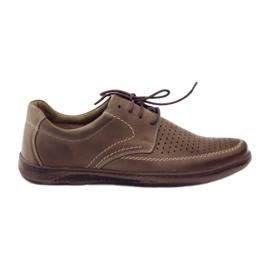 Smeđ Riko muške cipele s perforiranim cipelama 848
