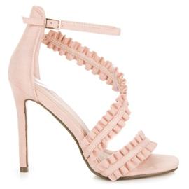 Seastar Sandale s visokim potpeticama roze