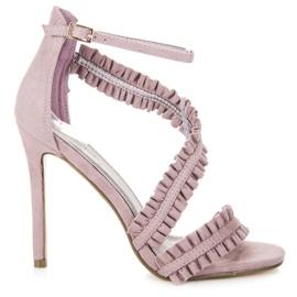 Seastar Sandale s visokim potpeticama purpurna boja