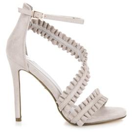 Seastar siva Sandale s visokim potpeticama