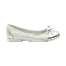American Club fehér Ballerinas cipő amerikai íjjal