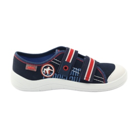Papuče za dječake tenisice Befado 672Y058 mornarsko plava crvena bijela