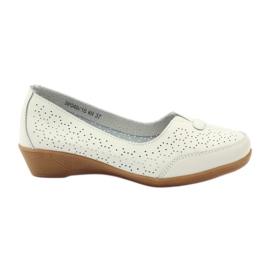 Kožne cipele Vinceza mokasinke bijela
