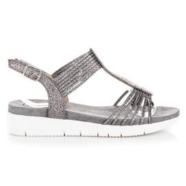 Kylie siva Sandale Sa kristalima