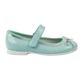 American Club zöld Ballerinas cipő amerikai íjjal