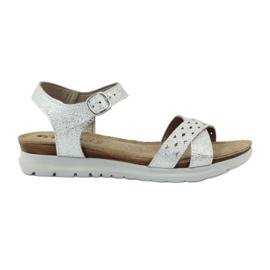 Inblu siva Inndale sandale srebrne boje
