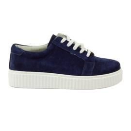 Creepersy kožne cipele Filippo 036 mornarica