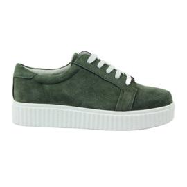 Creepersy kožne cipele Filippo 036 zelena