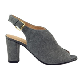Cipele sandale ESPINTO 248 siva kobra