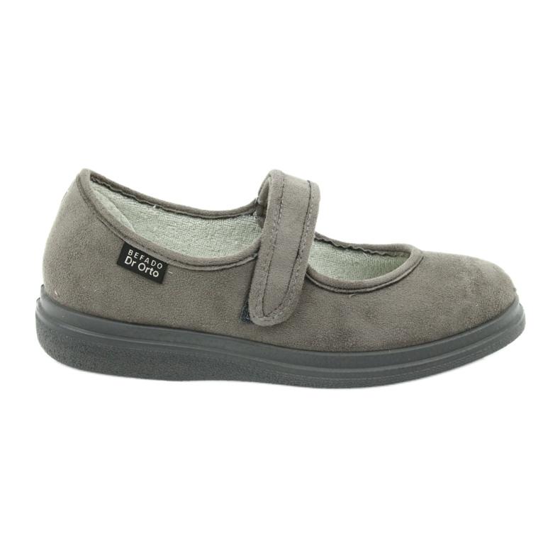 Szürke Befado női cipő pu 462D001