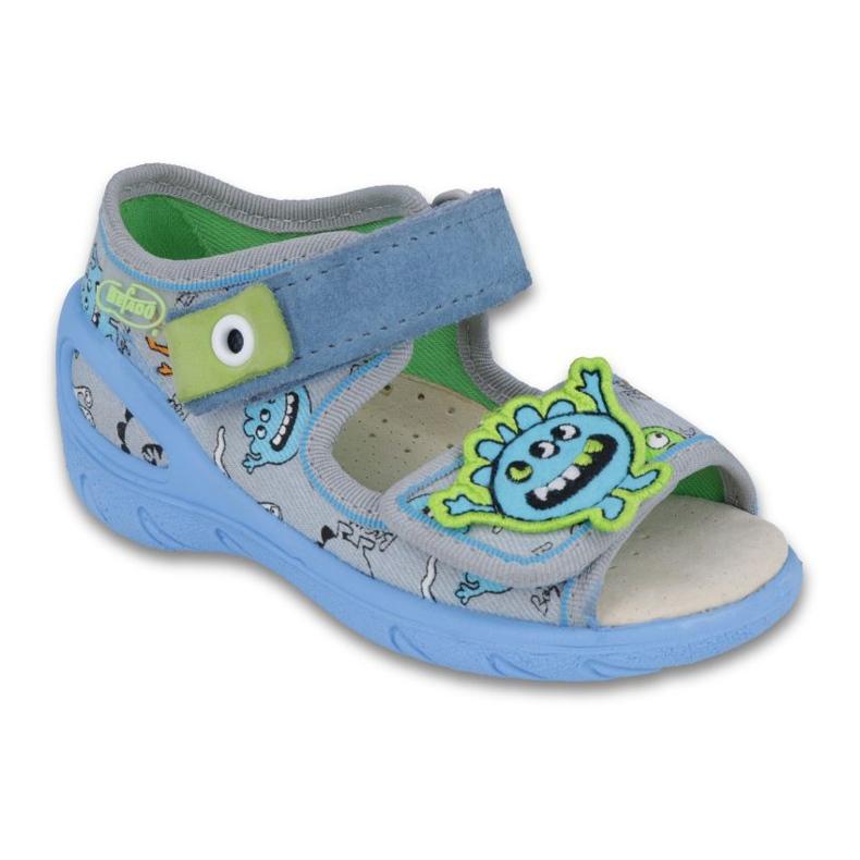 Befado pu 433P031 dječja obuća plava siva