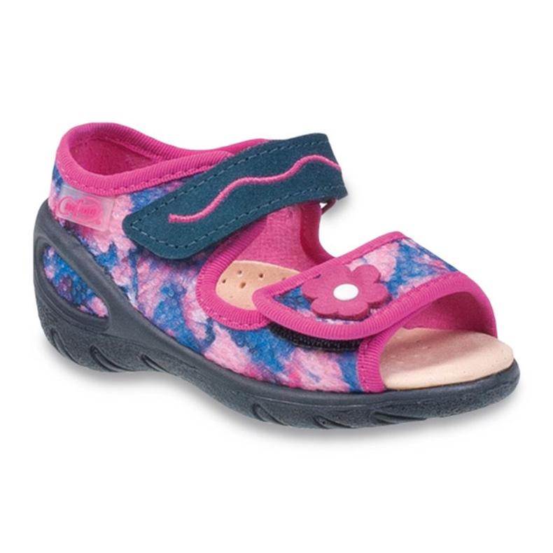 Befado dječje cipele pu 433X021 mornarsko plava ružičasta