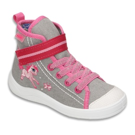 Dječje cipele Befado 268X059 ružičasta siva