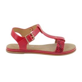 American Club Umetak od sandale od kože 052 crvena