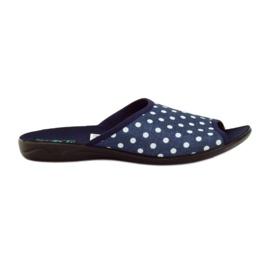 Adanex kék pamut pöttyös papucs