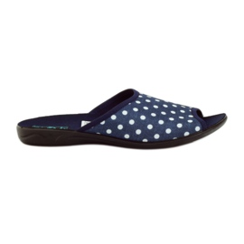 Papuče Adanex plave pamučne točkice