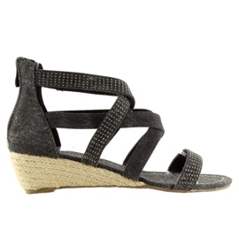 Crna Espadrilles crne cipele ME11783 Crne