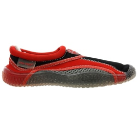 Aqua-Speed Jr. neoprén strand cipő piros-szürke
