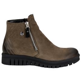 Čizme s niskim gležnjačima VINCEZA zelena