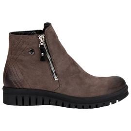 Čizme s niskim gležnjačima VINCEZA smeđ