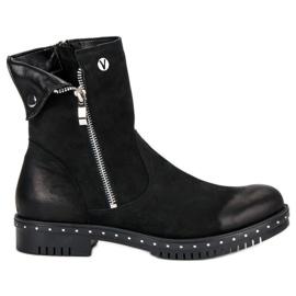 Crne čizme s kožom VINCEZA crna