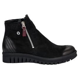 Čizme s niskim gležnjačima VINCEZA crna