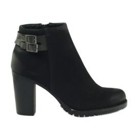 Filippo Ženske cipele s visokim potpeticama s kopčama 8255 crna