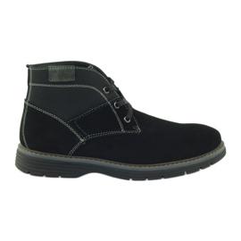 McKey fekete Mellkasbőr boka cipő 284