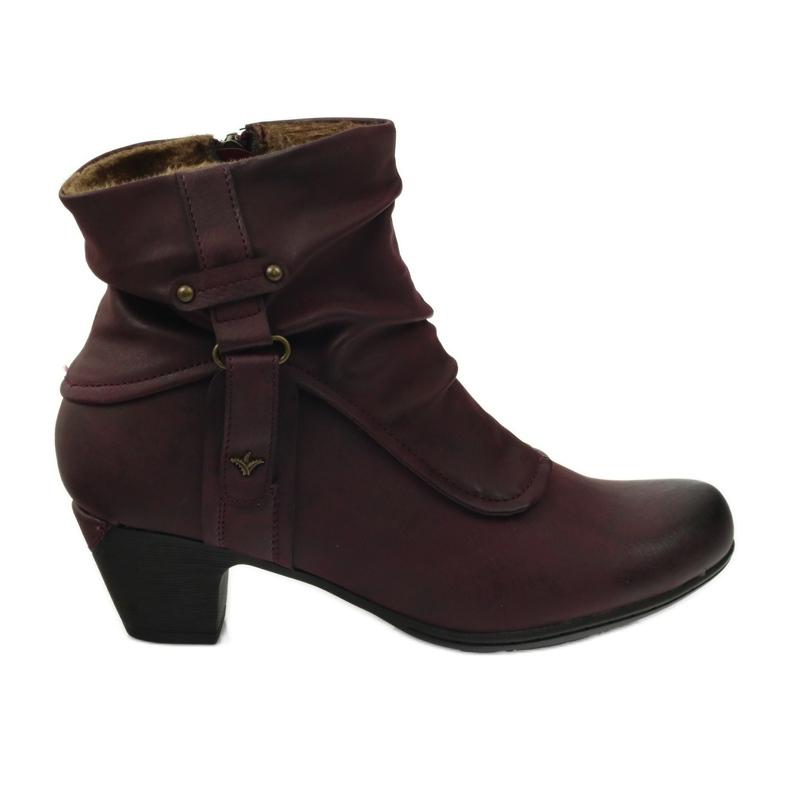 Čizme maroon super udobne Aloeloe