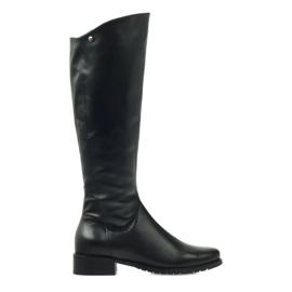 Duge crne čizme Edeo 2206 crna