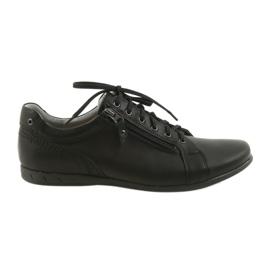 Fekete Riko férfi cipő alkalmi cipő 856