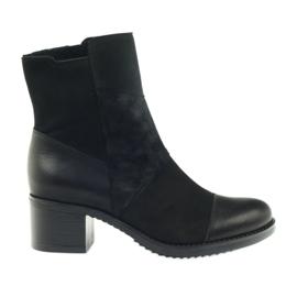 Fekete Marco téli csizma magas sarkú cipő 933