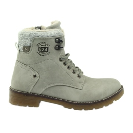Sive, vezane cipele DK2025 siva