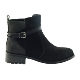 American Club Američke čizme zimske čizme od antilop kože crna
