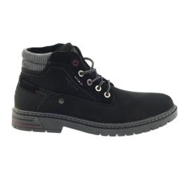 American Club fekete Amerikai trappers cipő téli trekking