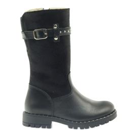 Čizme od krzna Ren But 3309 crne crna