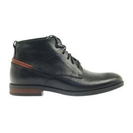 Fekete cipő csomózott Pilpol 6030