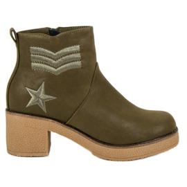 Kylie Vojne čizme žene zelena