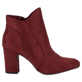 Kylie Elegantne čizme od antiknosti crvena