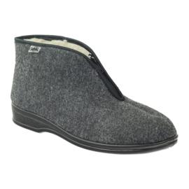 Szürke Befado férfi cipő meleg papucs 100M047